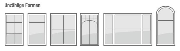 Rehau Fenster Formvarianten