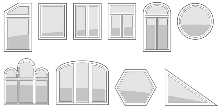 Rehau Synego Fenster Formvarianten